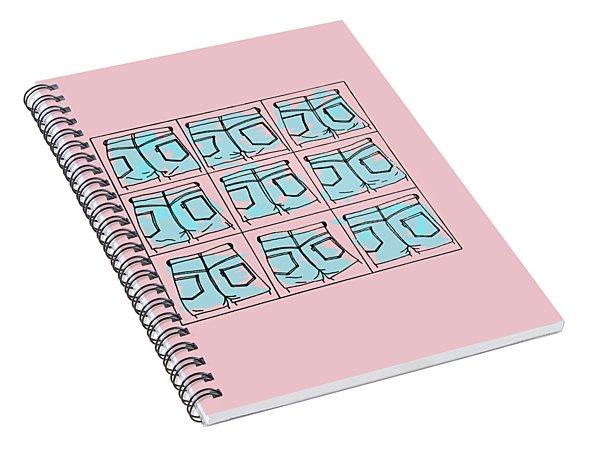 Series Pink 004 Spiral Notebook