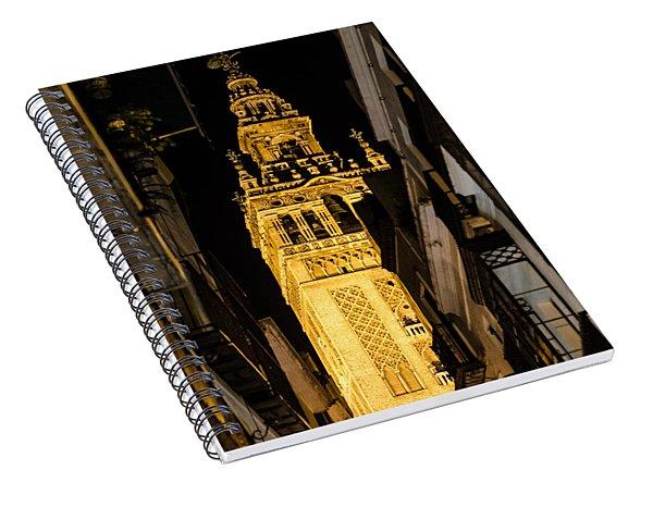 Seville - The Giralda At Night  Spiral Notebook