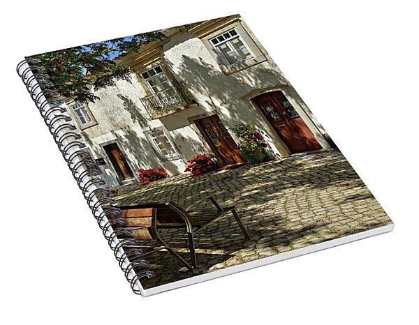 Shady Street In Tavira, Portugal Spiral Notebook