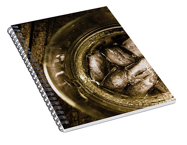 Shot Of Whisky On The Rocks Spiral Notebook