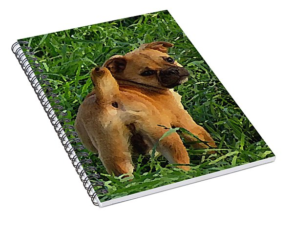 Showing Her Mutt. Spiral Notebook