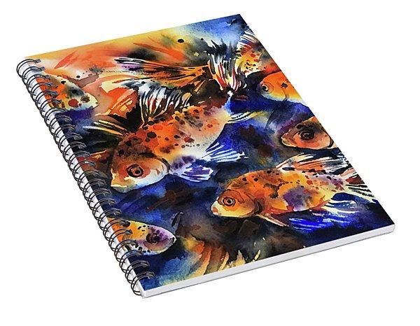 Shubunkin Goldfish Spiral Notebook