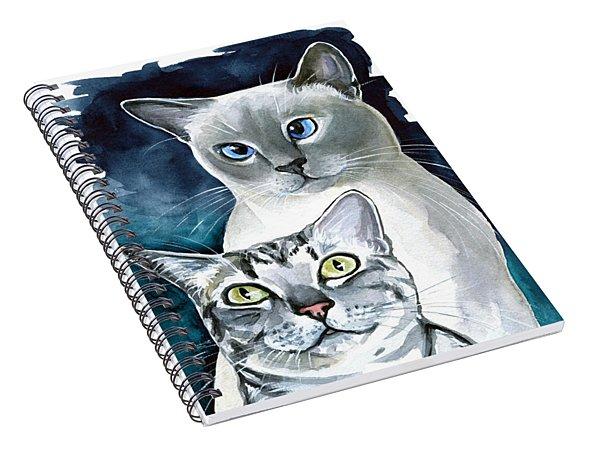 Sini And Nimbus - Cat Portraits Spiral Notebook