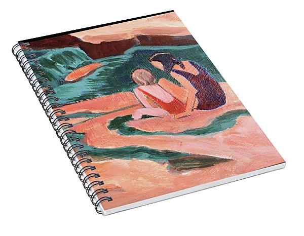 Sisters At Slide Rock Spiral Notebook