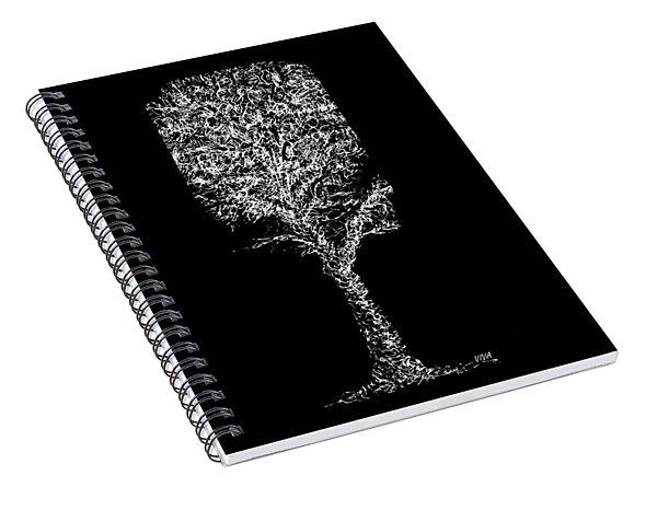Sketchbook Tree 2-b-w Spiral Notebook