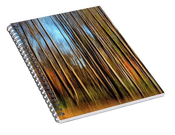 Skinny Forest Swipe Spiral Notebook