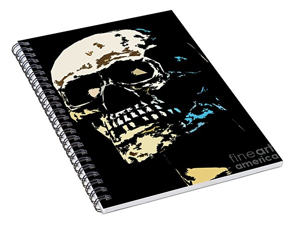 Skull Against A Dark Background Spiral Notebook