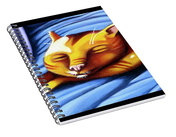 Sleeping Kitty Spiral Notebook