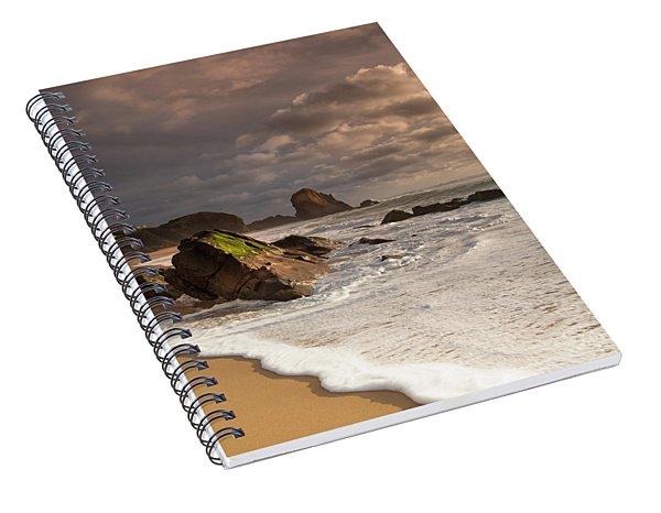 Slipping On Sand Spiral Notebook