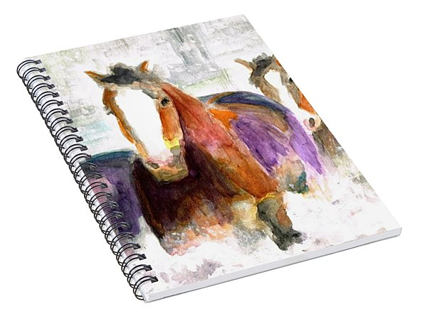 Snow Horses Spiral Notebook