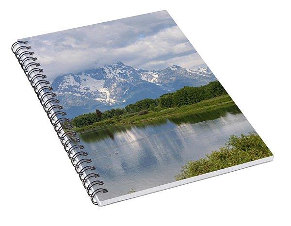 Snow In July Spiral Notebook