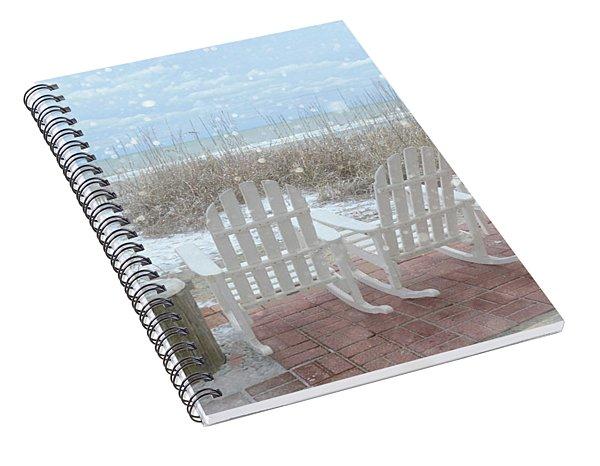Snow On The Beach 4 Spiral Notebook