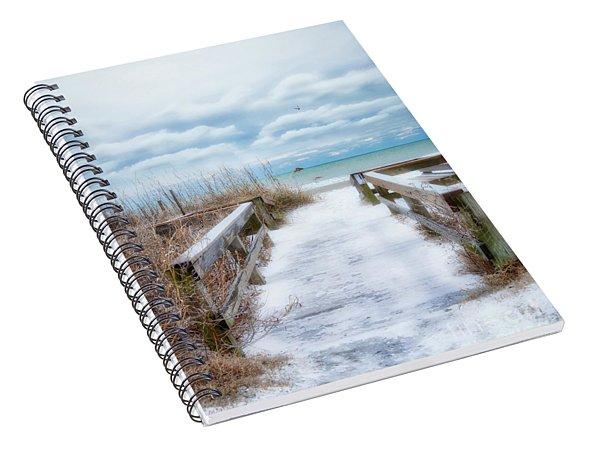 Snow On The Beach 9 Spiral Notebook