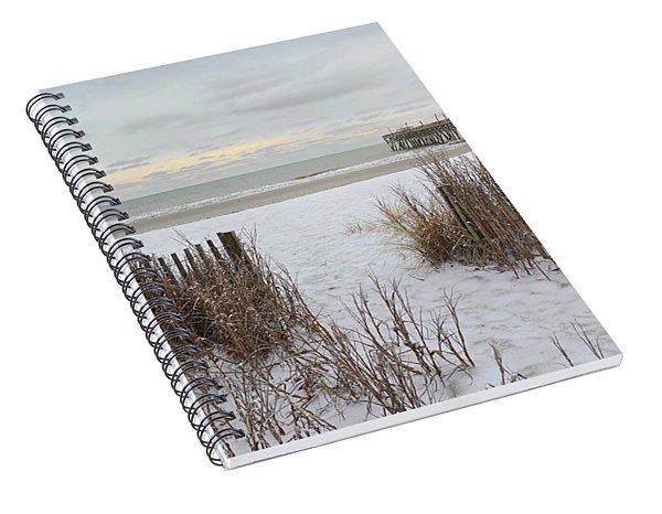 Snow On The Beach 7 Spiral Notebook