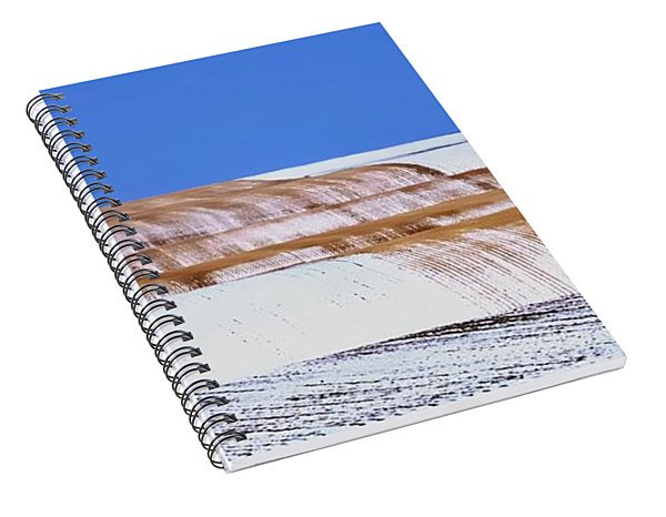 Snow Stubble Tree Line 13955 Spiral Notebook