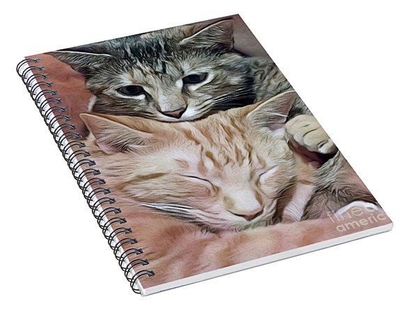 Snuggling Kittens Spiral Notebook