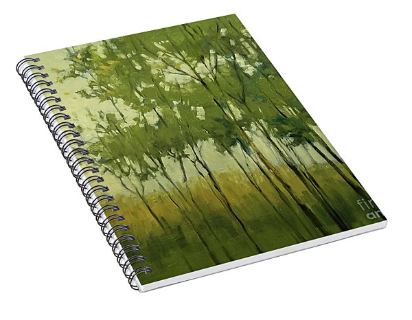 So Tall Tree Forest Landscape Painting Spiral Notebook