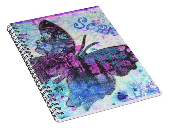 Soar Butterfly Spiral Notebook