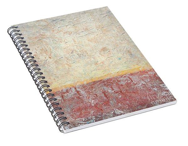 Sonoran Desert #2 Southwest Vertical Landscape Original Fine Art Acrylic On Canvas Spiral Notebook