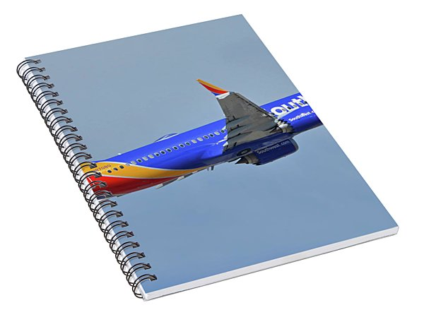 Southwest Boeing 737-8 Max N8708q Phoenix Sky Harbor October 10 2017 Spiral Notebook