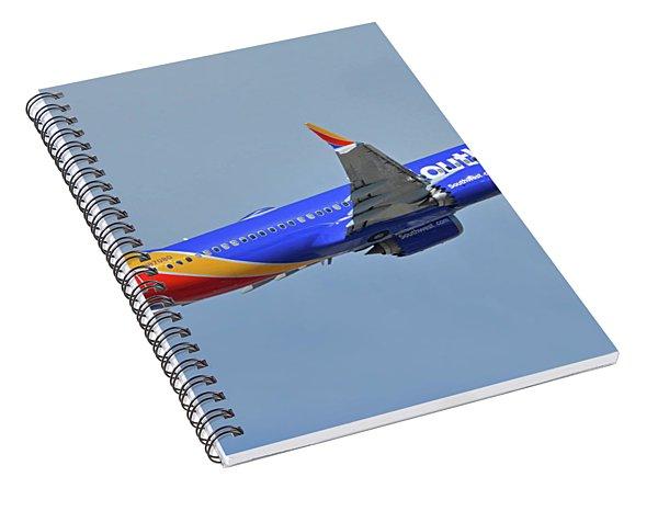Southwest Boeing 737-8 Max N8708q Phoenix Sky Harbor October 10 2017 Spiral Notebook