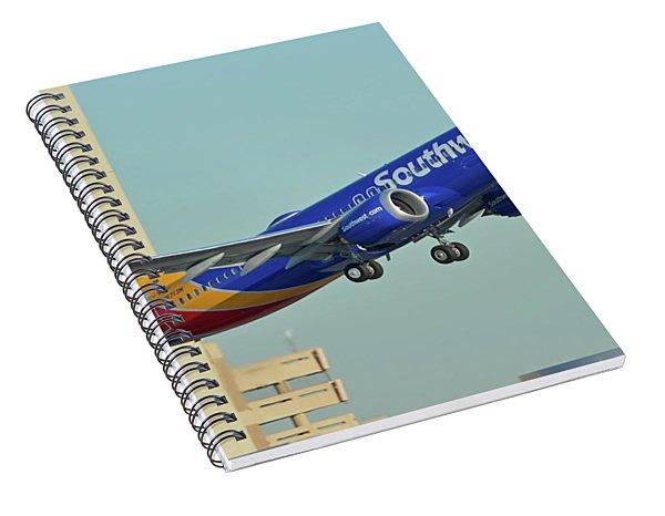Southwest Boeing 737-8 Max N8709q Phoenix Sky Harbor October 2 2017 Spiral Notebook