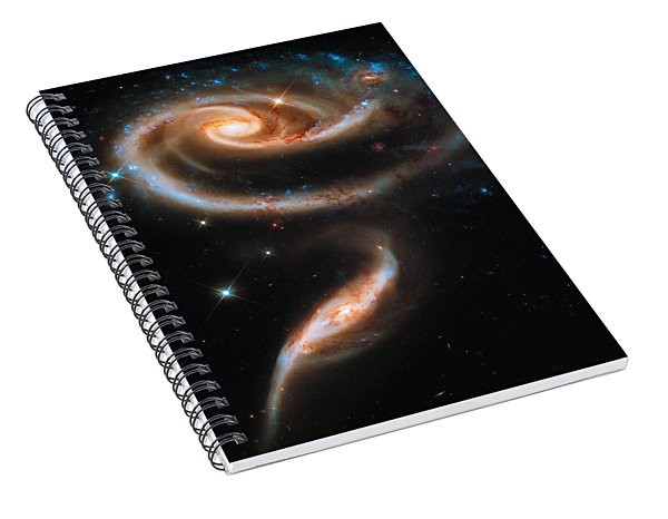Space Image Galaxy Rose Spiral Notebook