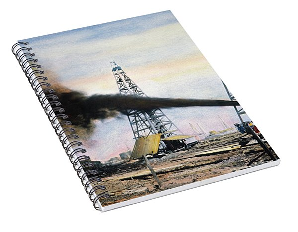 Spindletop Oil Pool, C1906 Spiral Notebook