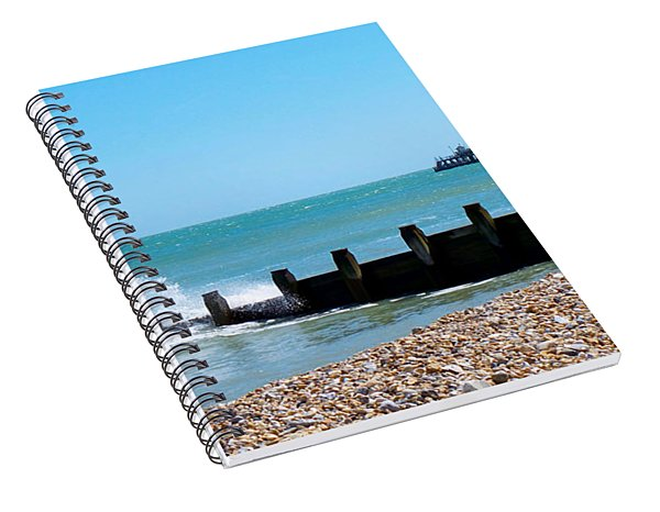 Splashing Waves By The Sea Spiral Notebook