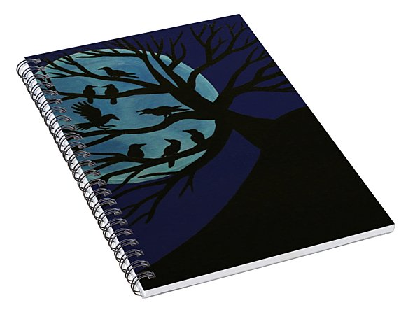 Spooky Raven Tree Spiral Notebook