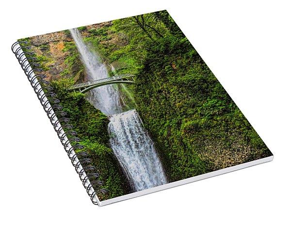 Spring At Multnomah Falls Spiral Notebook