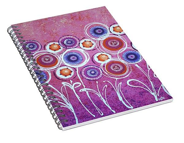 Pink New Flowers Spiral Notebook