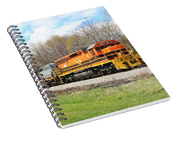 Springtime Train Spiral Notebook