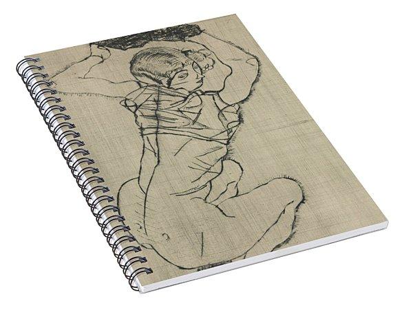 Squatting Woman Spiral Notebook