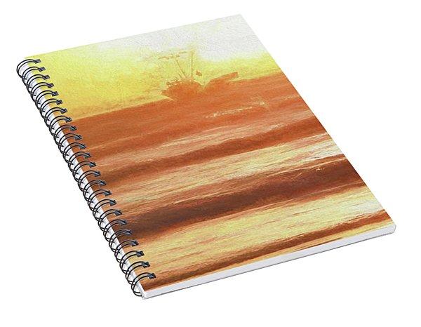 Squid Boat Sunset Spiral Notebook