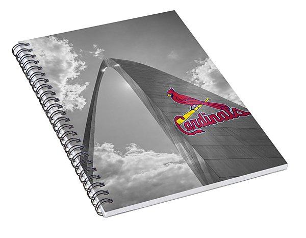 St. Louis Cardinals Busch Stadium Gateway Arch 1 Spiral Notebook