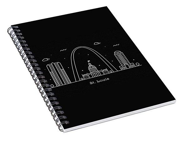 St. Louis Skyline Travel Poster Spiral Notebook