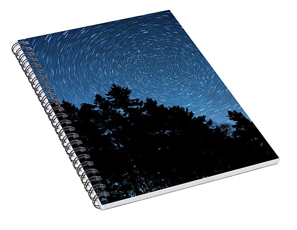 Star Trails In Acadia Spiral Notebook