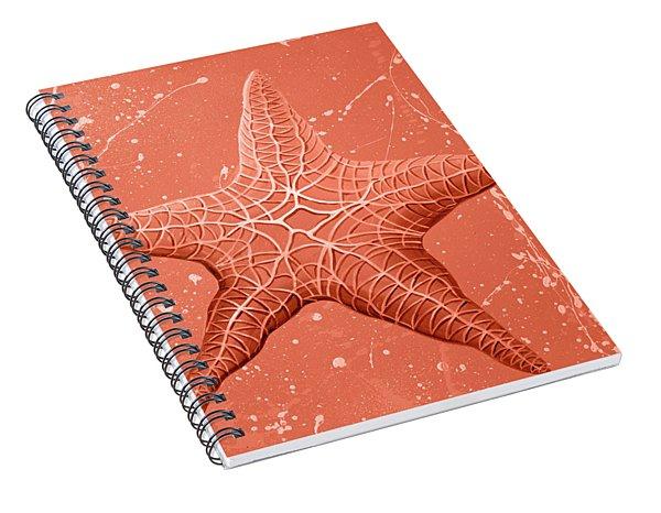 Starfish In Pink Spiral Notebook