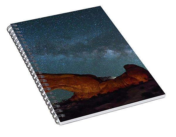Starry Night At North Window Rock Spiral Notebook