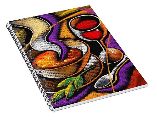 Steaming Supper Spiral Notebook