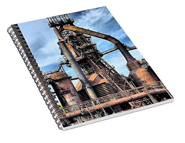 Steel Stacks Bethlehem Pa. Spiral Notebook