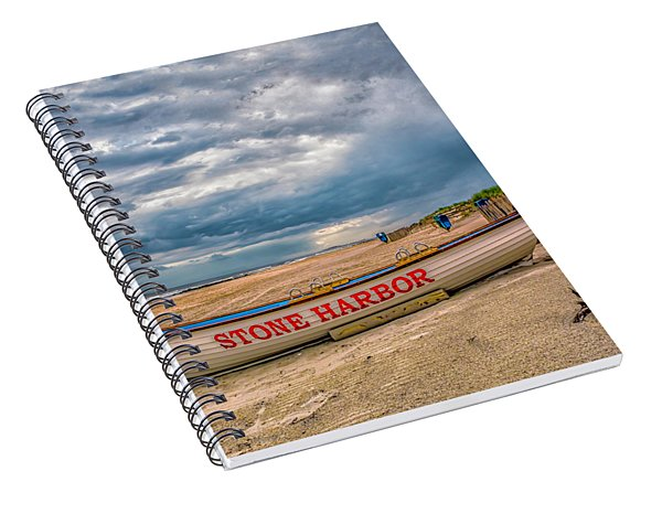 Storm Clouds In Stone Harbor Spiral Notebook