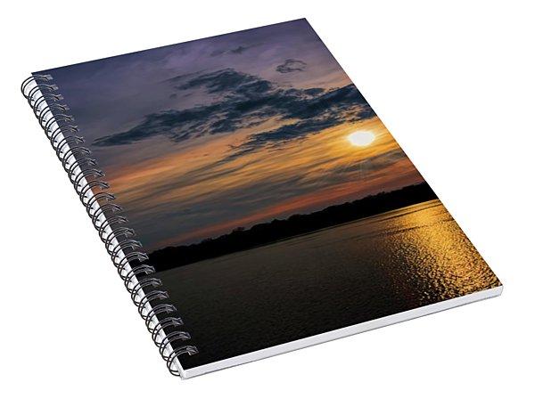 Stormy Sunset Over Belleville Lake Spiral Notebook