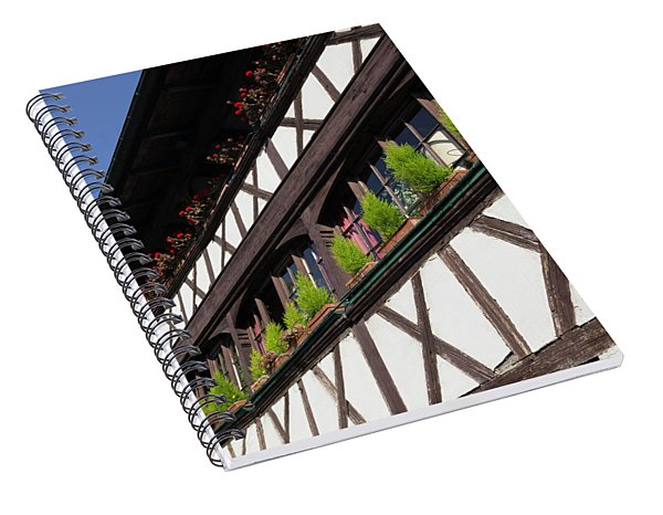 Strasbourg Window Boxes Spiral Notebook