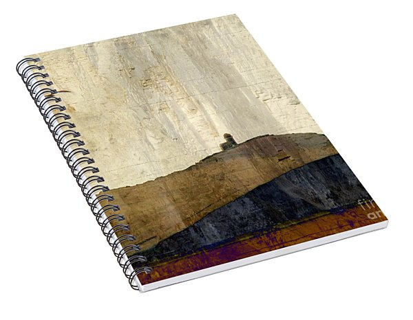 Strata With Lighthouse And Gull Spiral Notebook