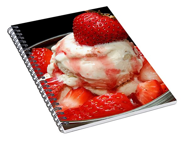 Strawberries And Ice Cream Spiral Notebook
