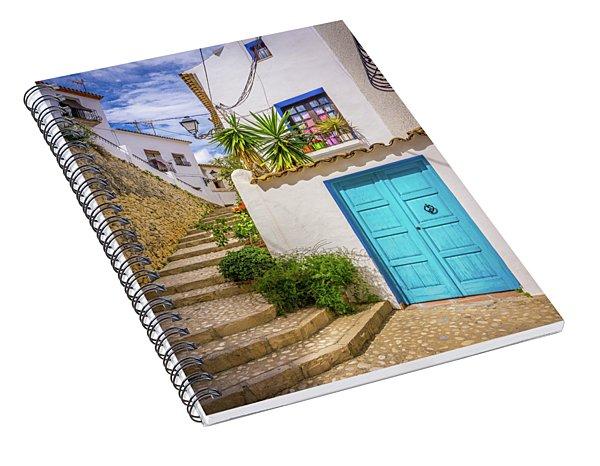 Street In Altea, Spain. Spiral Notebook