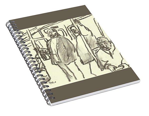 Subway Sketch, Nyc Spiral Notebook