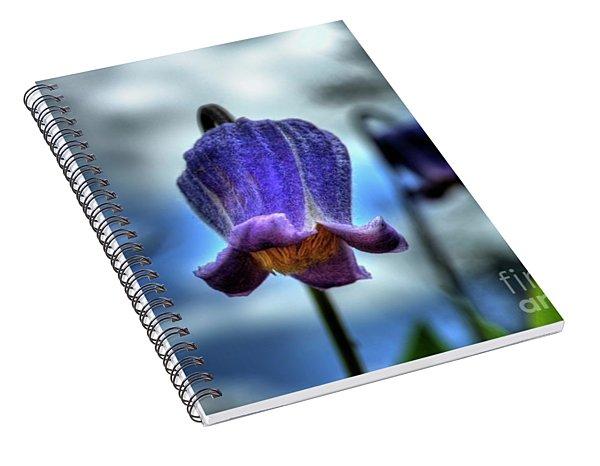 Sugarbowl Leather Flower Spiral Notebook